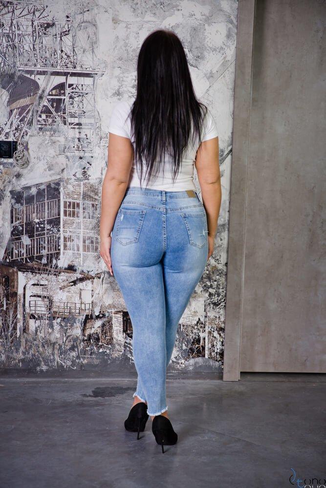 Spodnie CROSS Plus Size Jeansowe