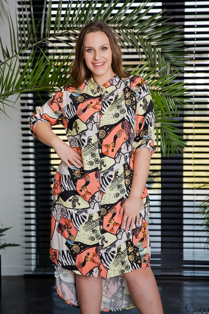 Sukienka AFRICA Plus Size Wzór 1