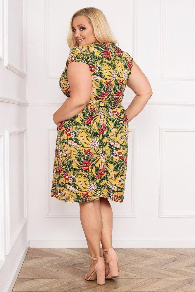 Sukienka AGOSTA Plus Szie Wzór 1