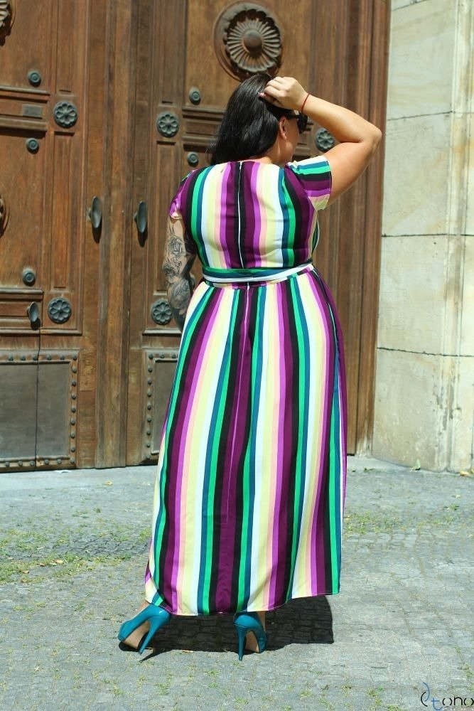 Sukienka ARGINA Plus Size Maxi Wzór 3