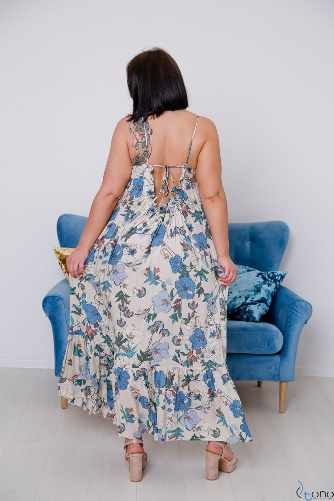 Sukienka CHLOE Plus Size Maxi Wzór 2