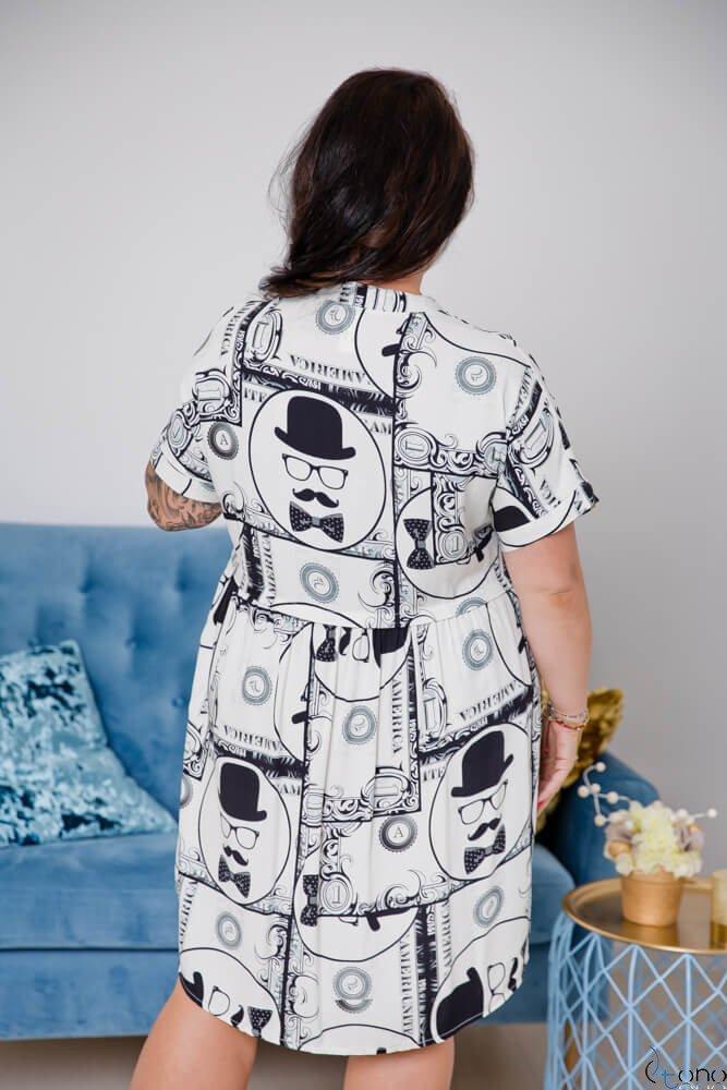 Sukienka CORTERA Plus Size Wzór 2