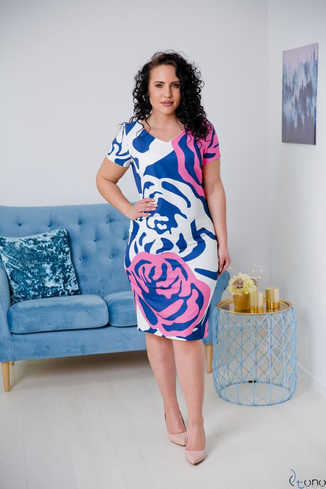 Sukienka CRISTINE Plus Size Wzór 7