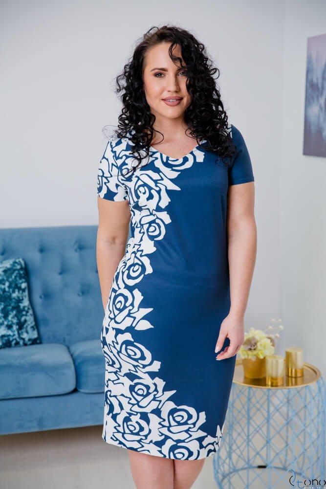 Sukienka CRISTINE Plus Size Wzór 8