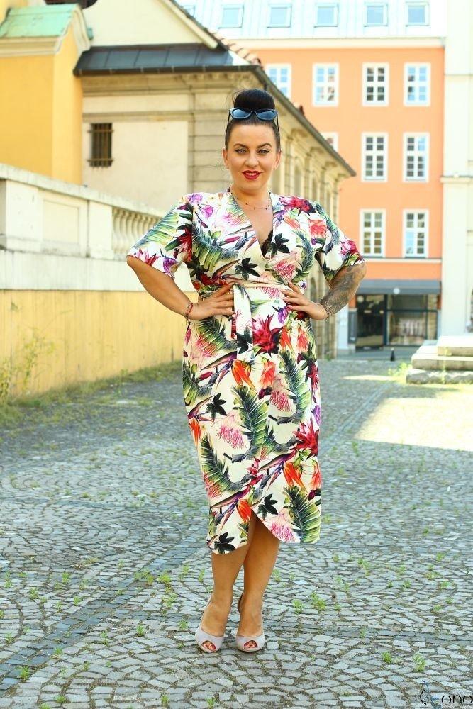 Sukienka FERRITA Plus Size Wzór 3