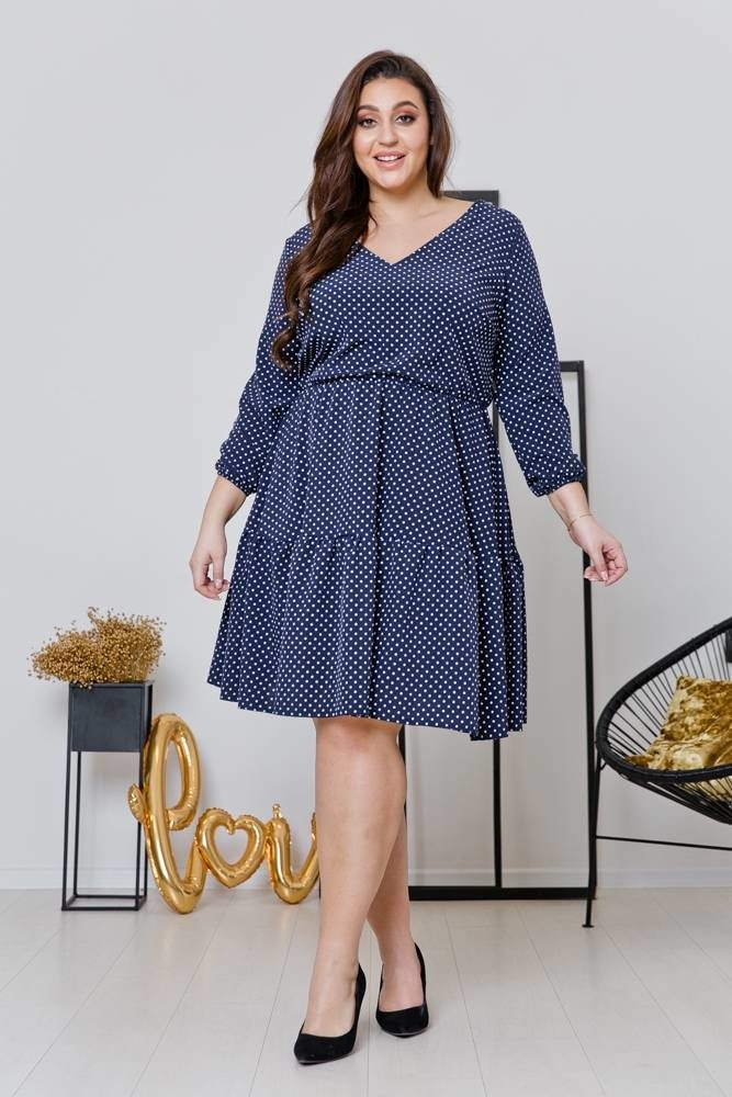 Sukienka FLEUR Plus Size Wzór 1