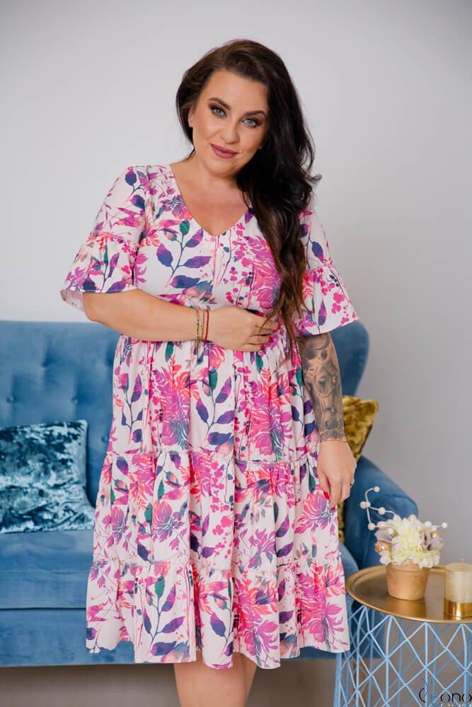 Sukienka FLORIDA Plus Size Wzór 1