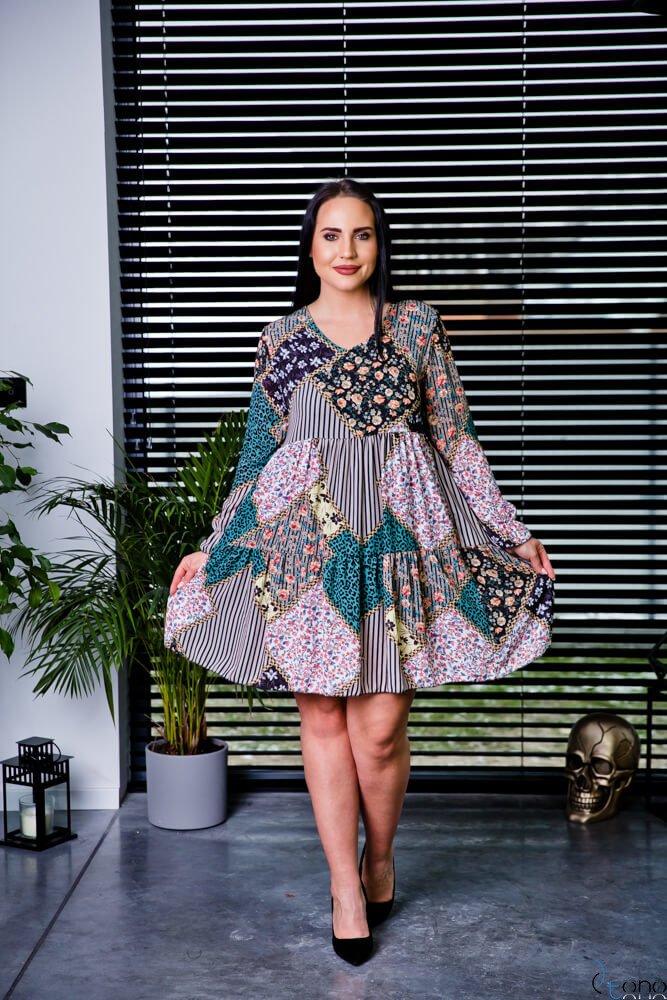 Sukienka JACKY Plus Size wzór 2