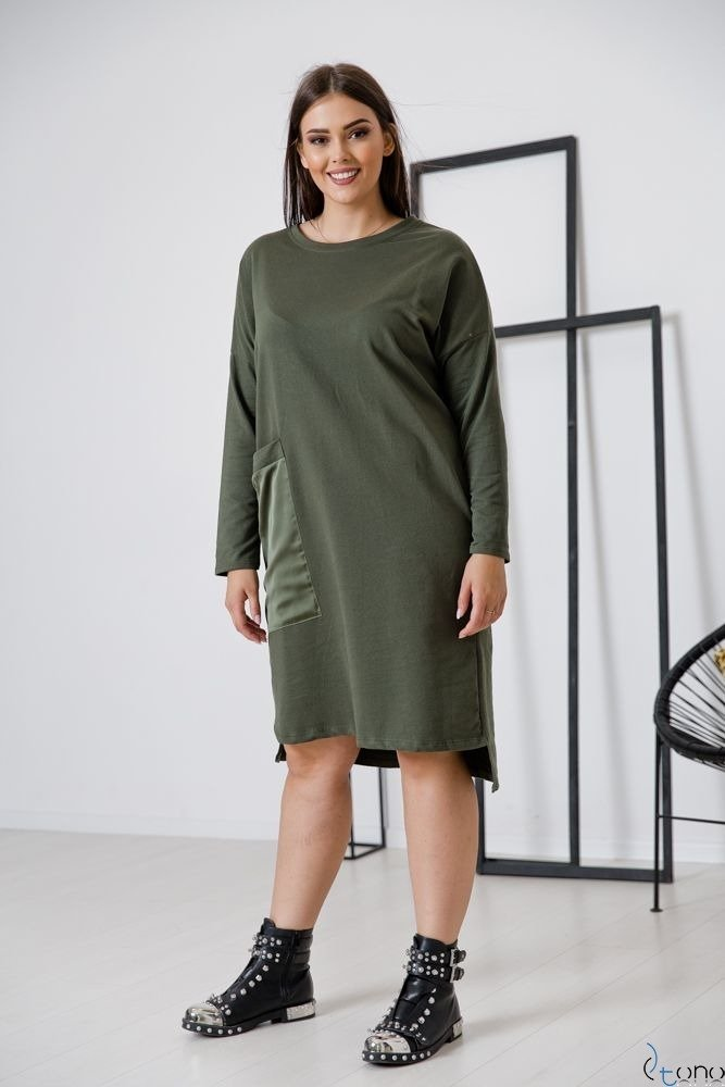 Sukienka Khaki BONELLA Plus Size