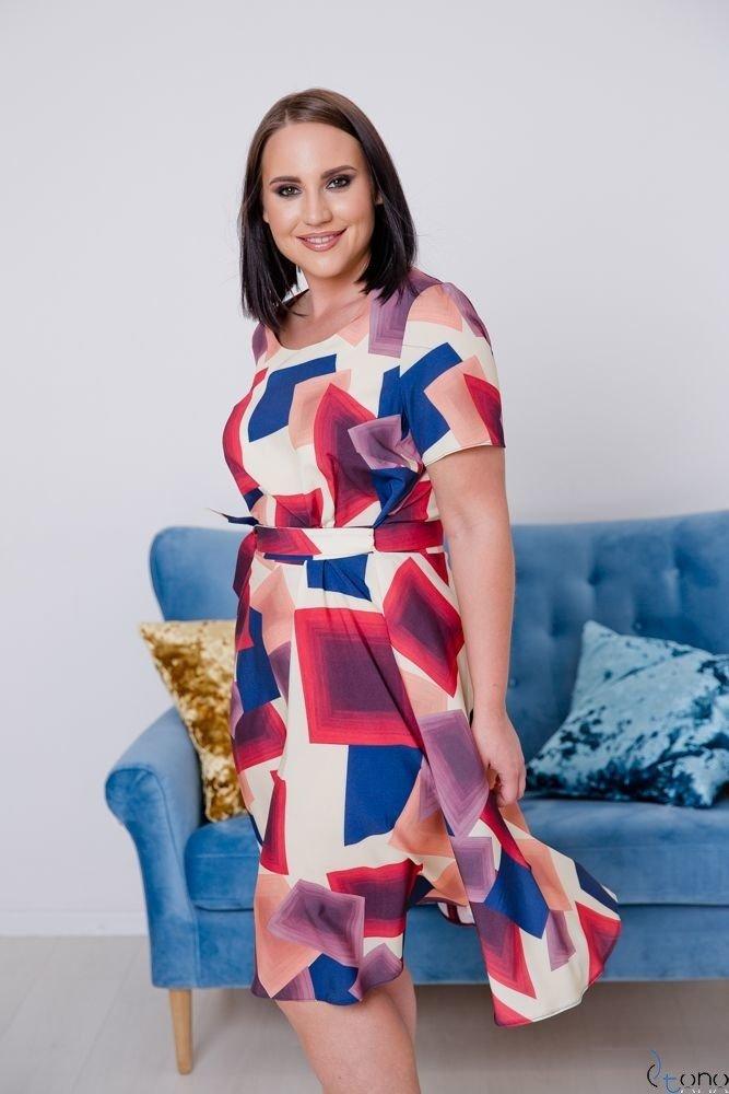 Sukienka ROSITA Plus Size Wzór 18
