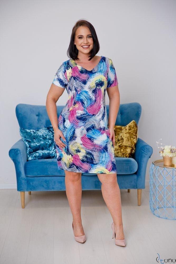 Sukienka STAMPINA Plus Size Wzór 15