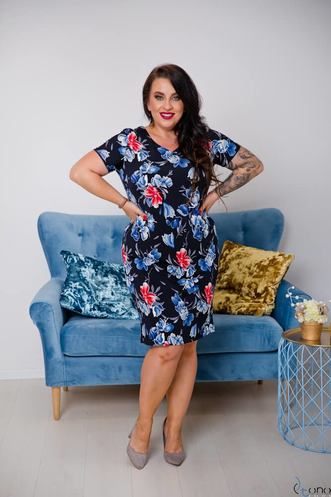 Sukienka STAMPINA Plus Size Wzór 4