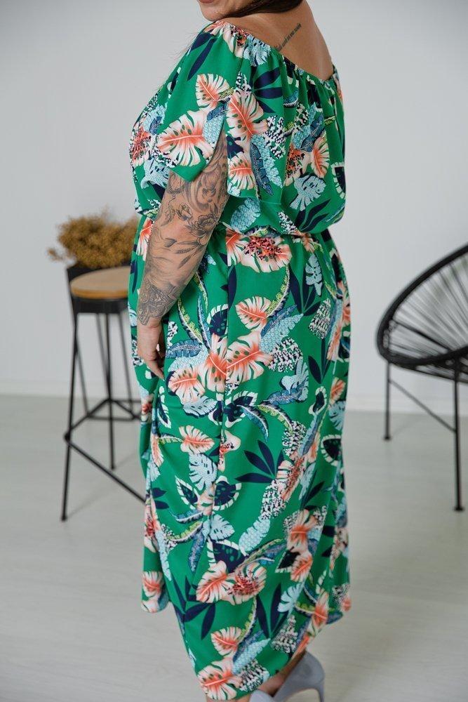 Sukienka TELAWI Plus Size Wzór 4