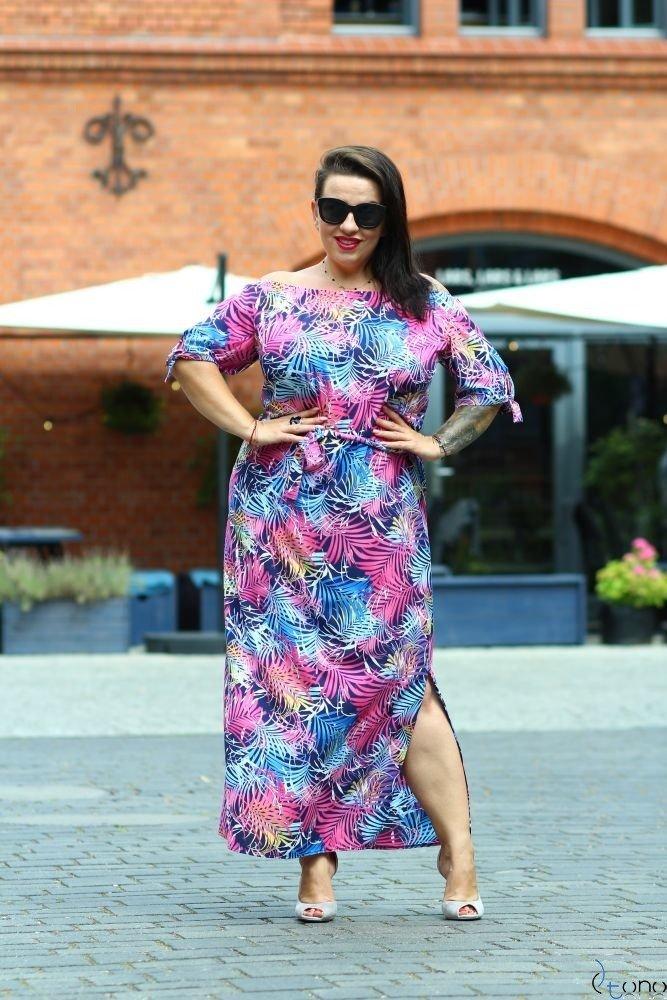 Sukienka TROPICANA Plus Size Wzór 10