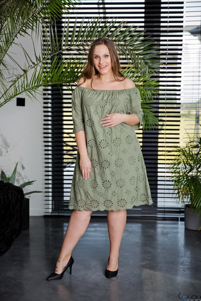 Sukienka WITNEY Khaki Plus Size