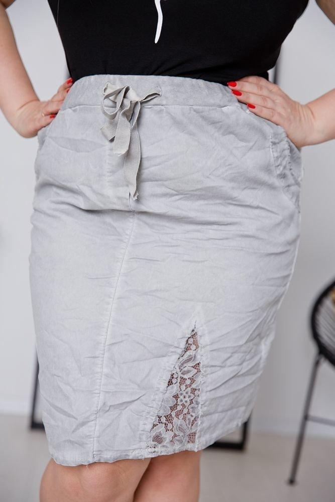 Szara Spódnica DENIMA Plus Size