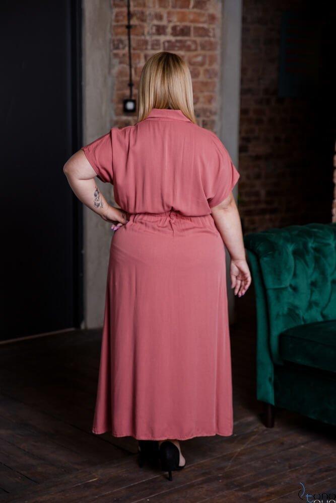 Wrzosowa Sukienka PALO Plus Size