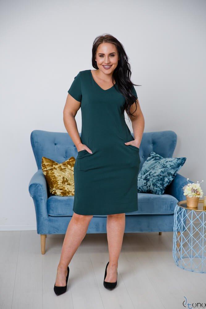 Zielona Sukienka EJMY Plus Size