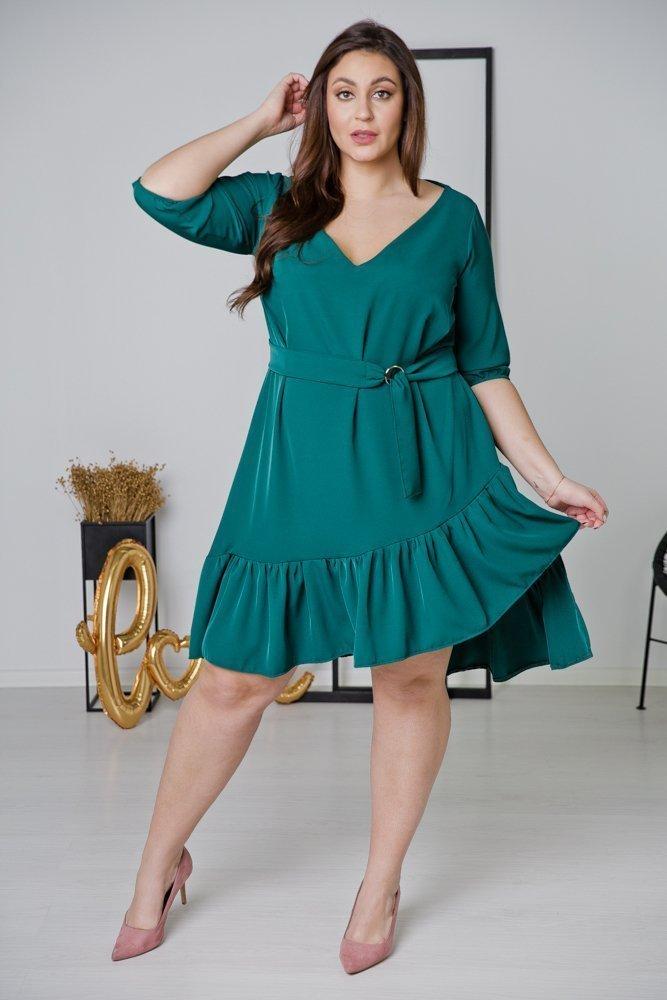 Zielona Sukienka ELENA Plus Size