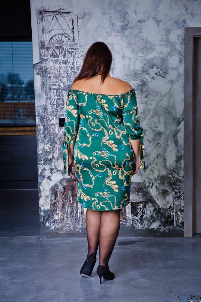Zielona Sukienka GRETTY Plus Size