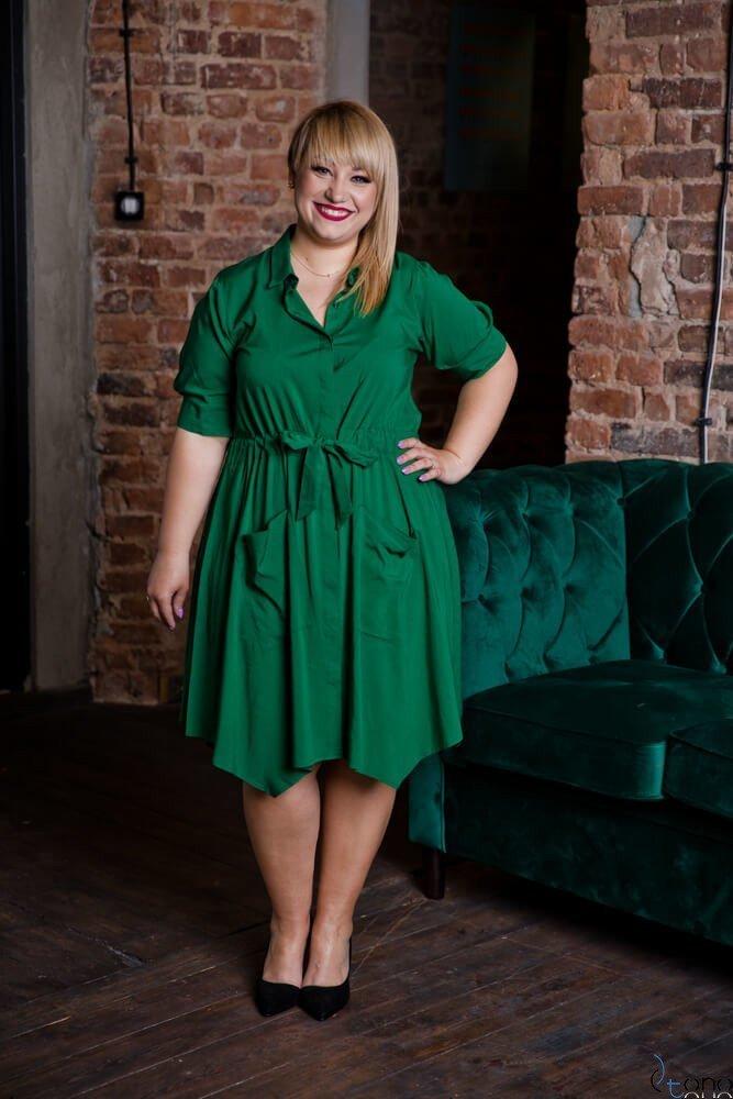 Zielona Sukienka GRIMA Plus Size