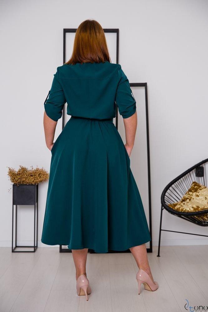 Zielona Sukienka RAVELA Plus Size