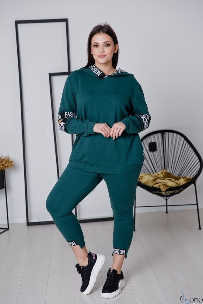 Zielony Dres FALETT Plus Size