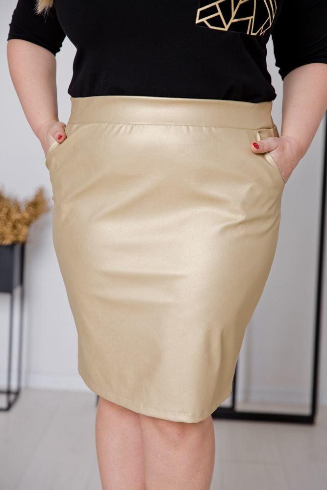Złota Spódnica GOLDENA Plus Size
