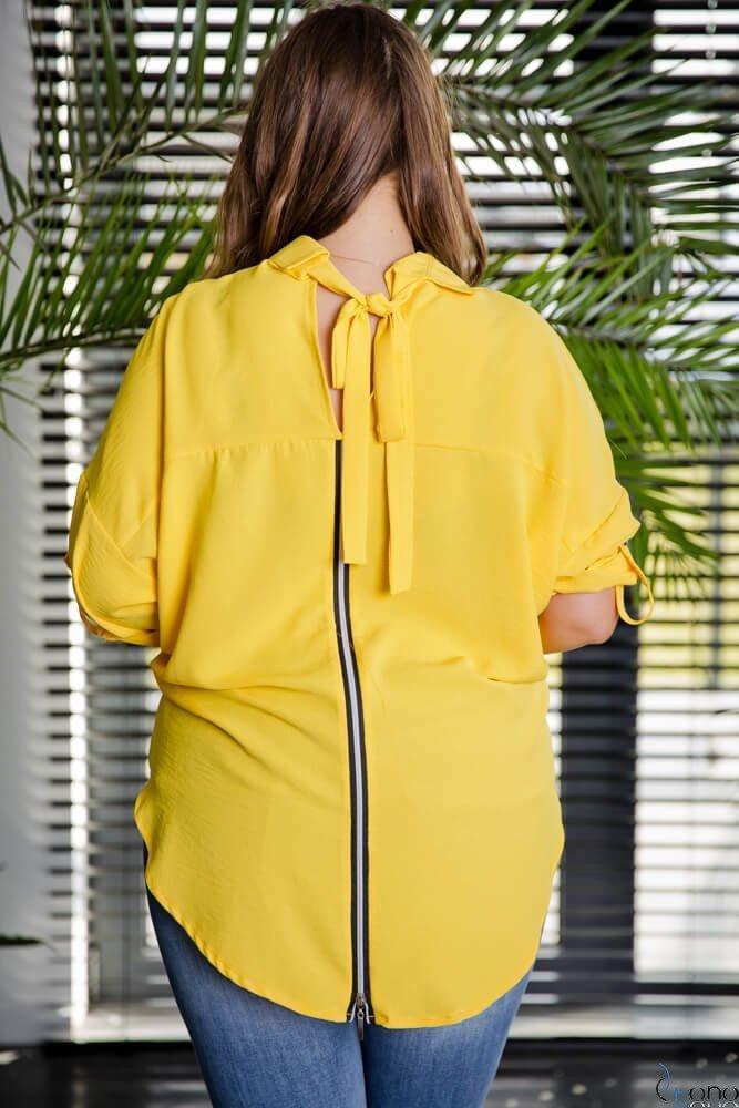 Żółta Koszula MONDAY Plus Size