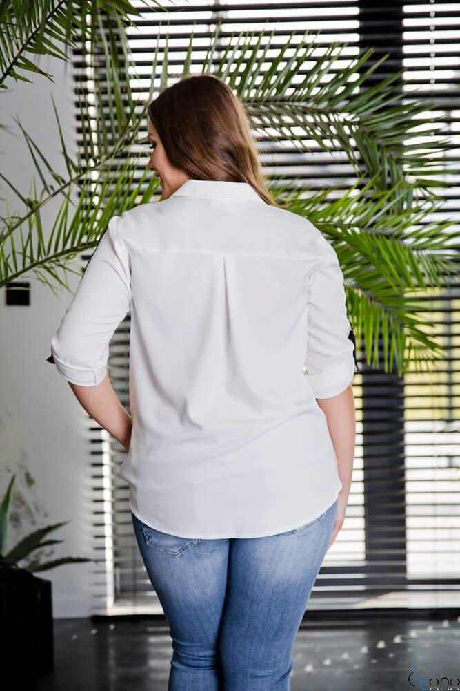 Biała Koszula PERIOD Plus Size