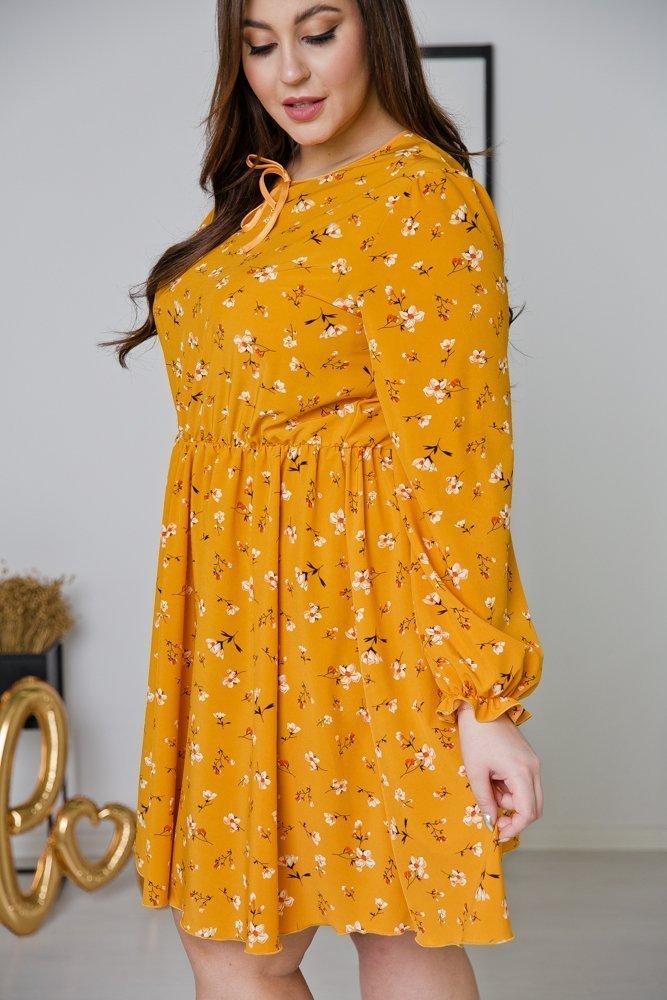 Żółta Sukienka CHERYL Plus Size