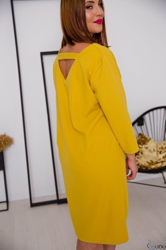 Żółta Sukienka HIERRA Plus Size