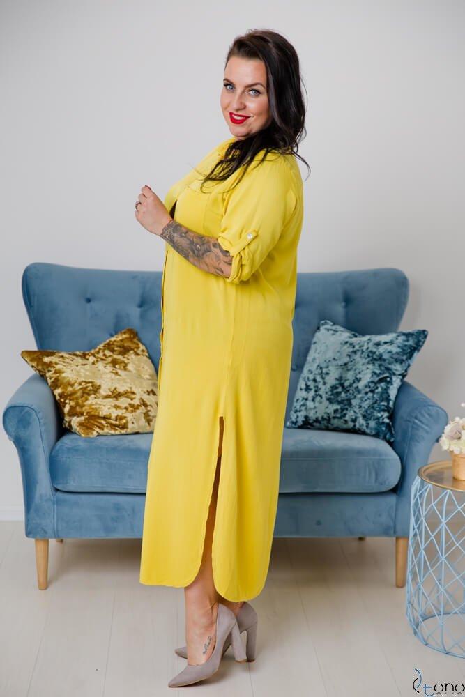 Żółta Sukienka SUCESIA Plus Size