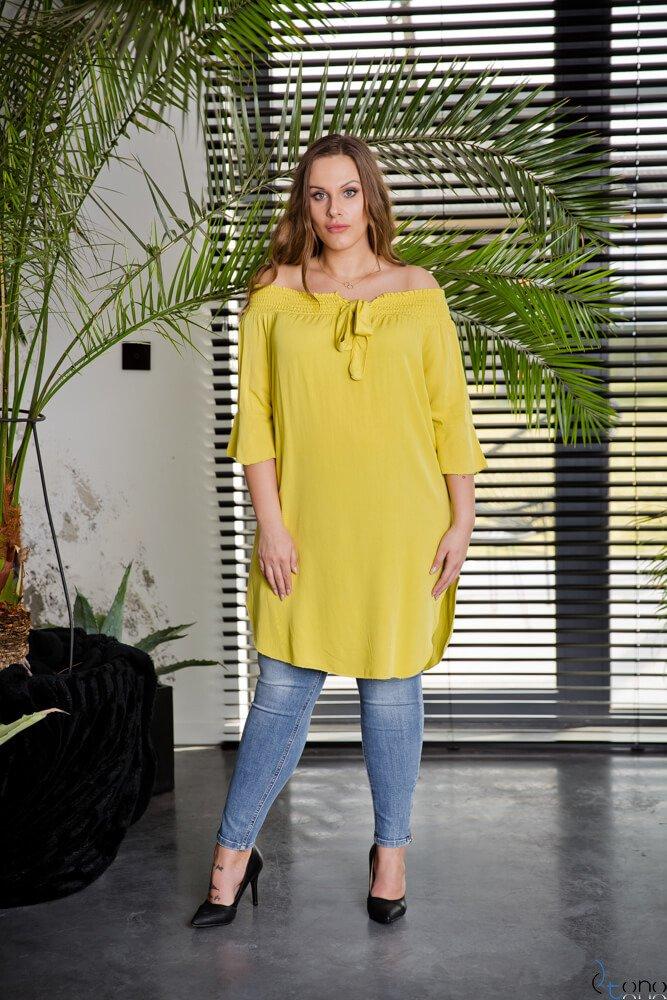 ŻółtaTunika MANOLLA Plus Size