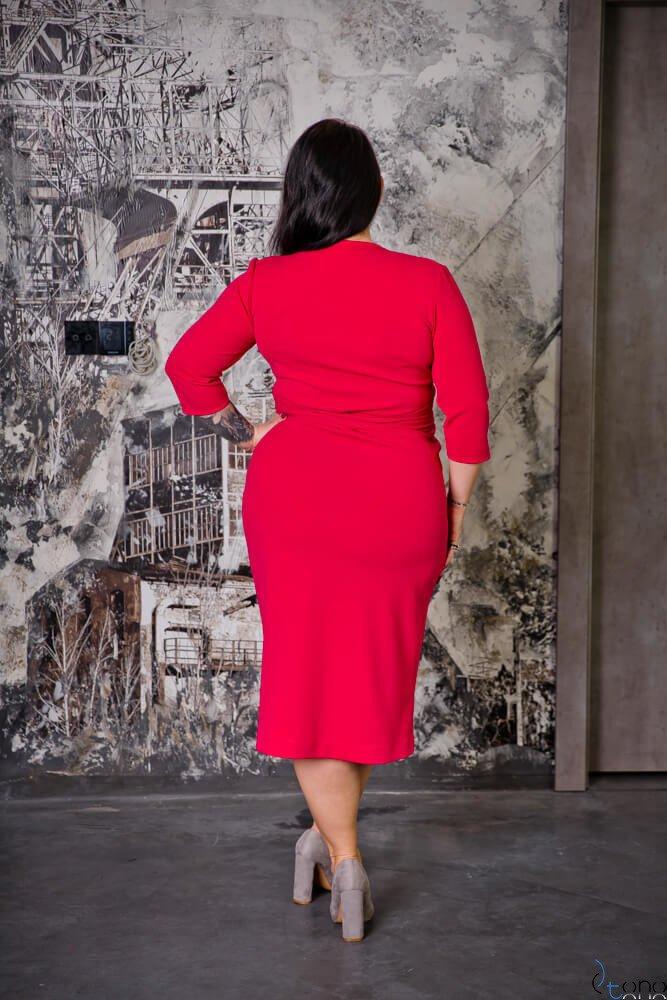Amarantowa Sukienka FERRERA Plus Size
