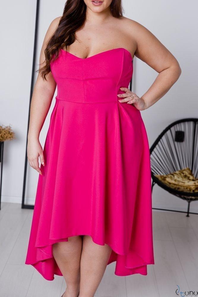 Amarantowa Sukienka MARELIA Plus Size
