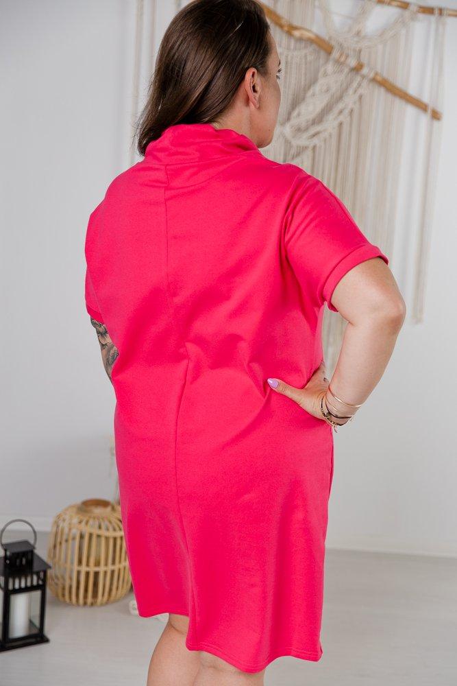 Amarantowa Sukienka ONESTIA Plus Size