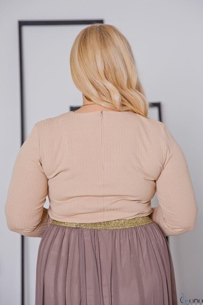 Beżowa Bluzka CANDIA Plus Size
