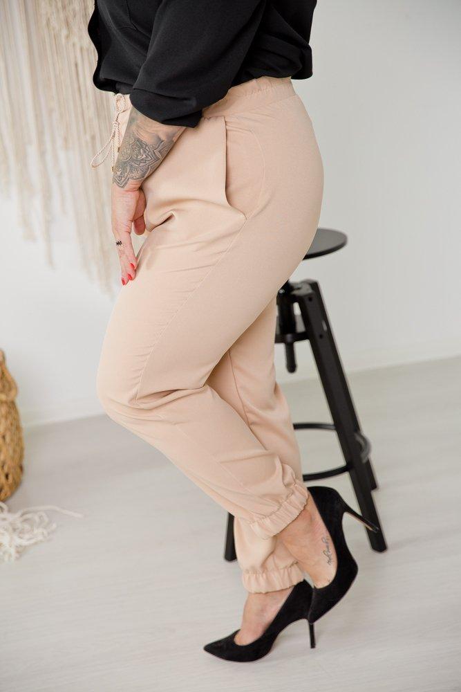 Beżowe Spodnie SLEEK Plus Size