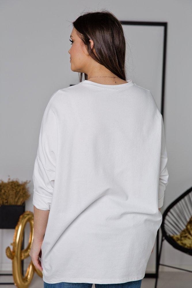Biała Bluza MARVI Plus Size