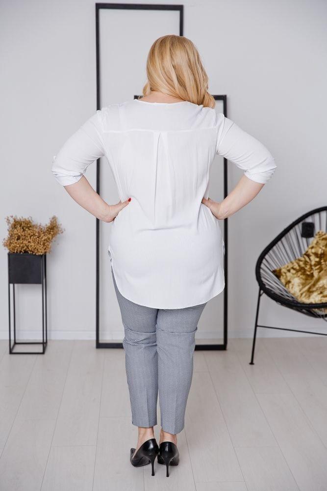 Biała Bluzka JUSTIN Plus Size