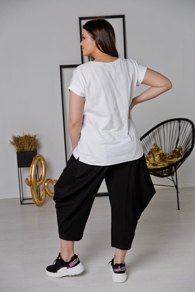 Biała Bluzka MIKI Plus Size