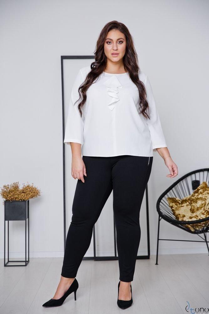 Biała Bluzka VERTER Plus Size