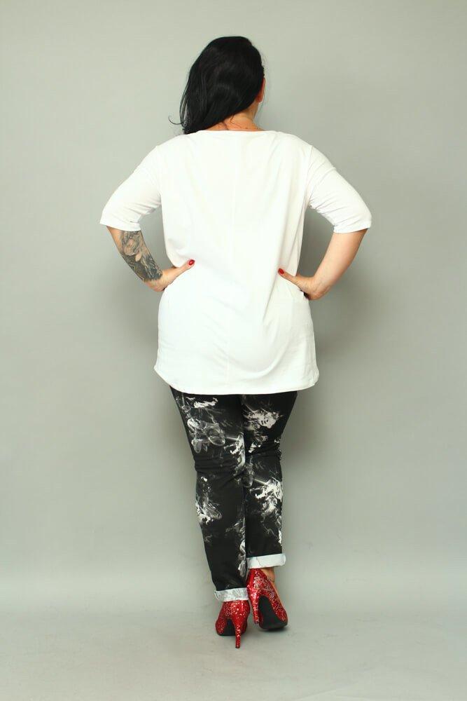 Biała Bluzka damska DIFFERENT T-Shirt Plus Size
