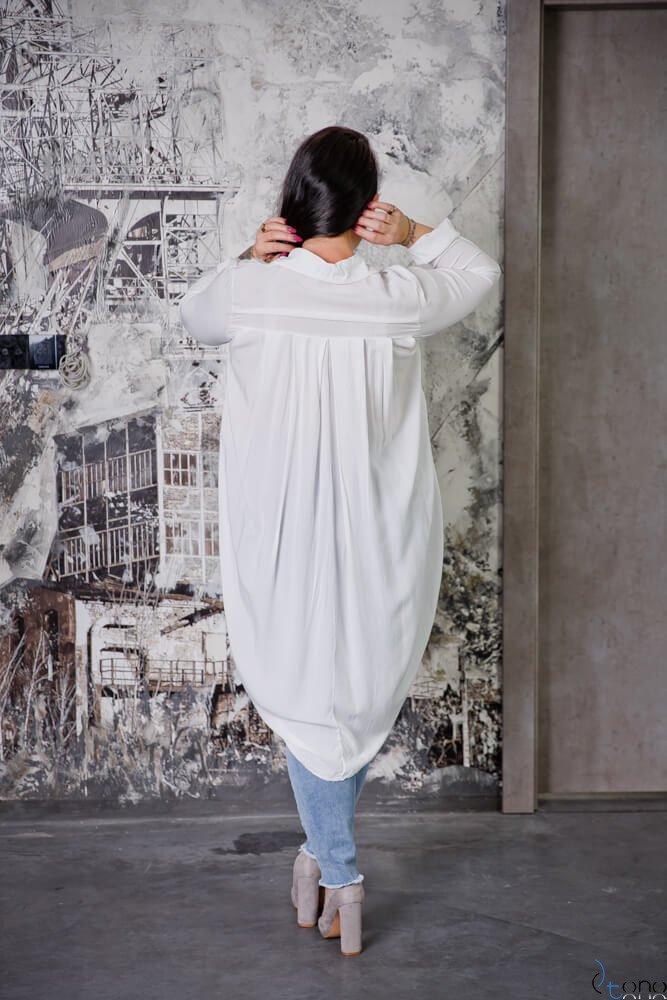Biała Koszula LUNGA Plus Size