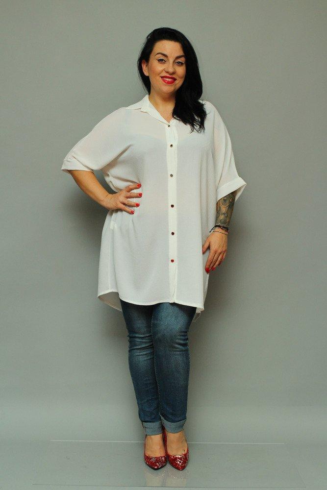 Biała Koszula MOLTA Oversize Wygodna