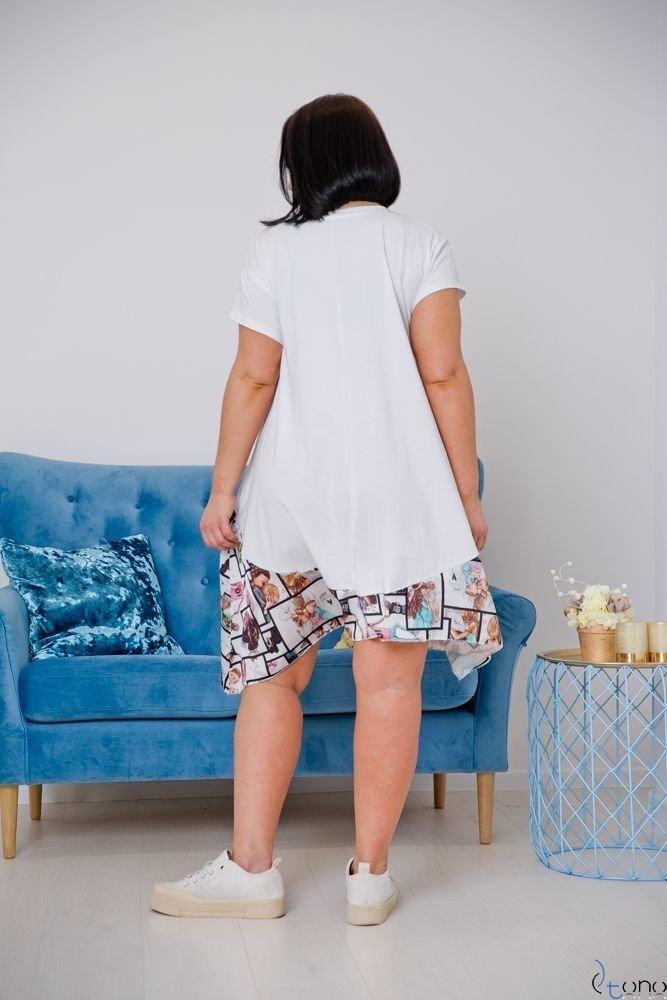 Biała Sukienka FILANO Plus Size