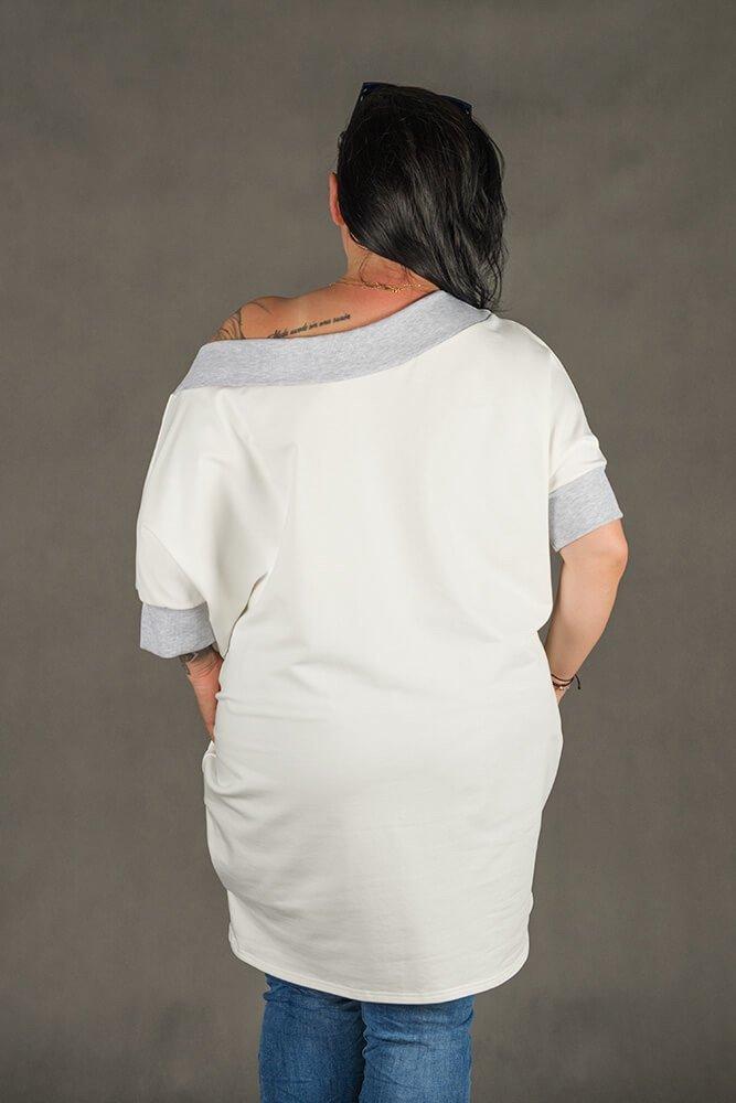 Biała Tunika WEST Plus Size
