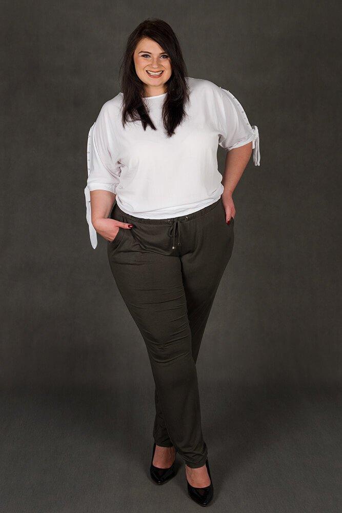 Biała bluzka PASADA Kimono Perełki