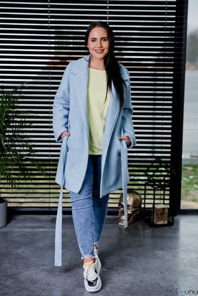 Błękitny Płaszcz REBEL Plus Size
